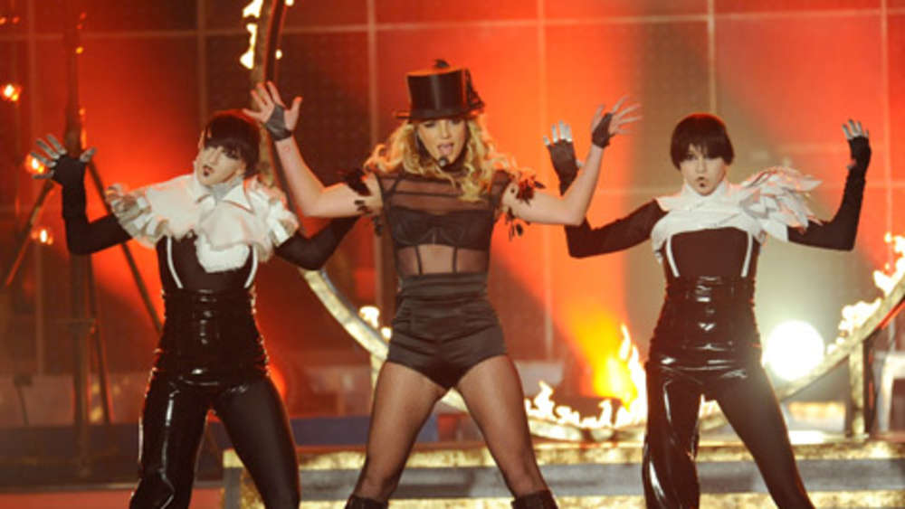 "Britney sang ihren Hit ""Womanizer""."