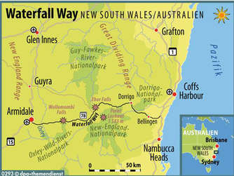 Australien Waterfall Way
