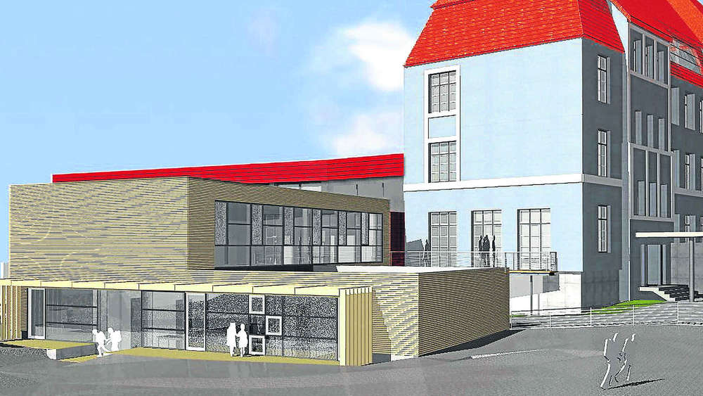 schulkindergarten am gr nen markt eine holzfassade aus. Black Bedroom Furniture Sets. Home Design Ideas