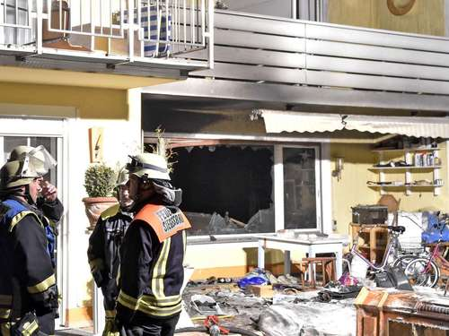 Brand in Pension in Hohenbrunn - Bilder
