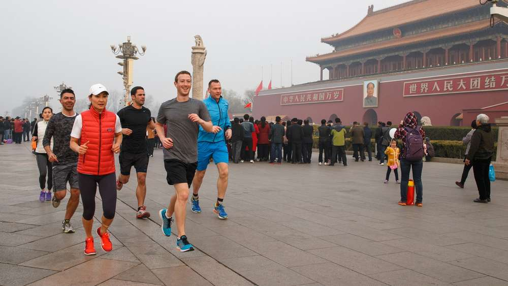 Mark Zuckerberg joggt durch Peking.