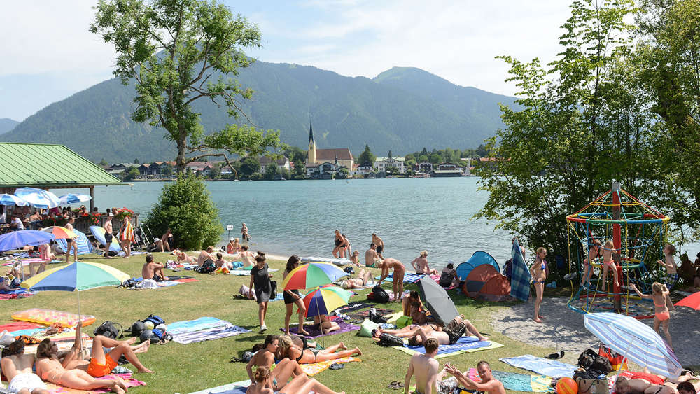 Badestrand an der Point in Tegernsee.