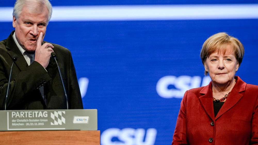 Horst Seehofer and Angela Merkel