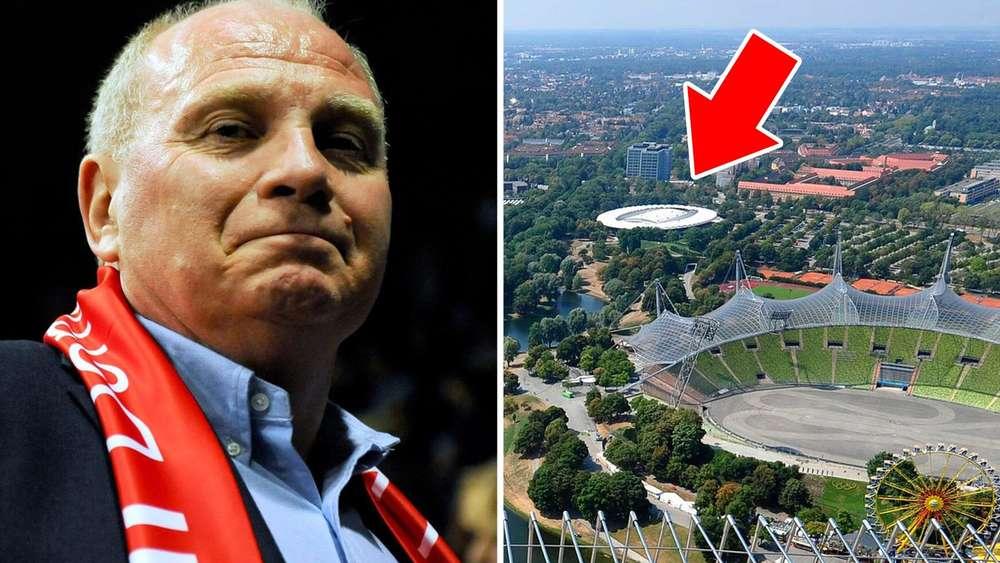 Doch neue halle mit uli hoene stadt olympiapark und red for Ulrich pfeil