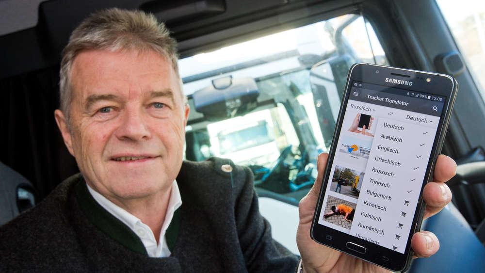 "Smartphone-Übersetzer-App""Trucker Translator"""
