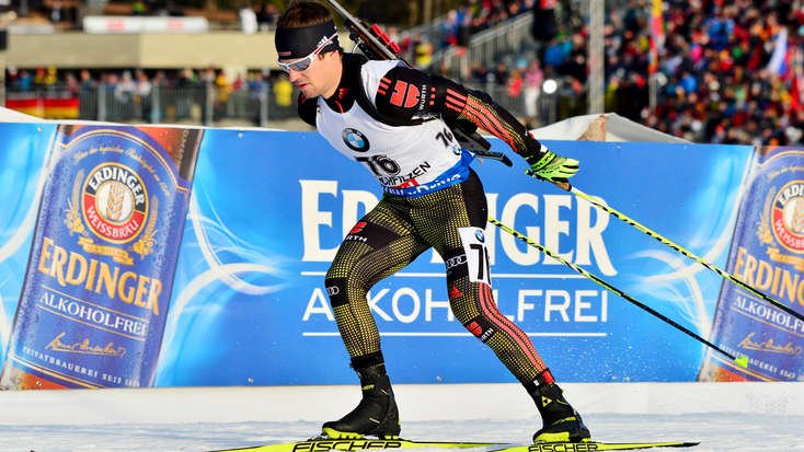 Matthias Bischl im Sprint in den Top Ten