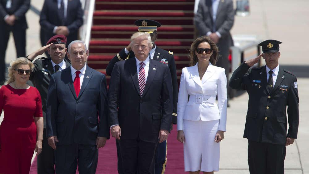 Rührung in Israel über Händehalten von Melania und Israels First Lady