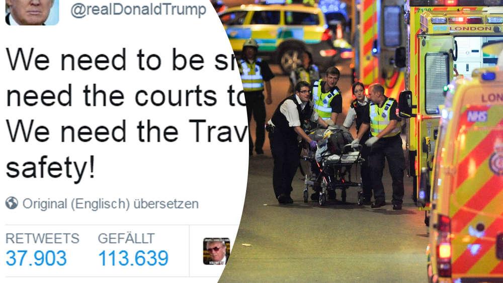 Trump bietet London Hilfe an - und nutzt Tragödie für sich