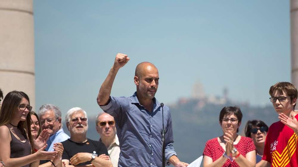 Pep Guardiola fordert Unabhängigkeit für Katalonien