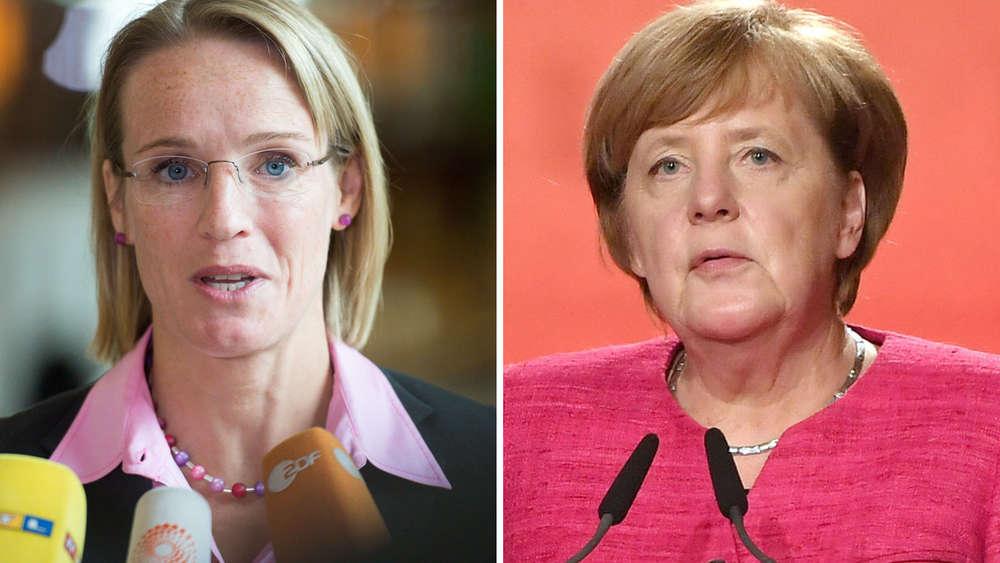 Angela Merkel laut