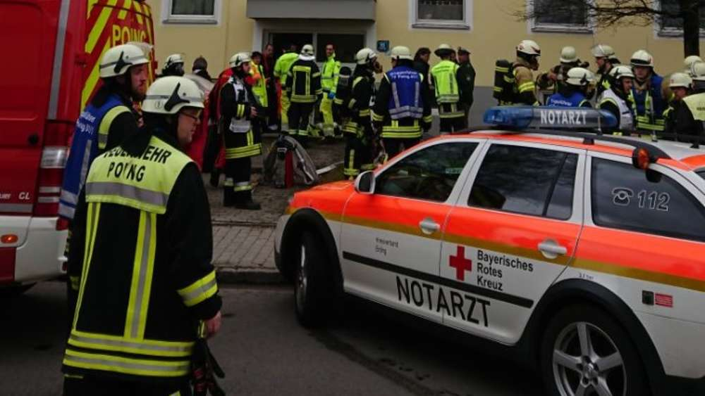 Explosion in Mehrfamilienhaus in Poing
