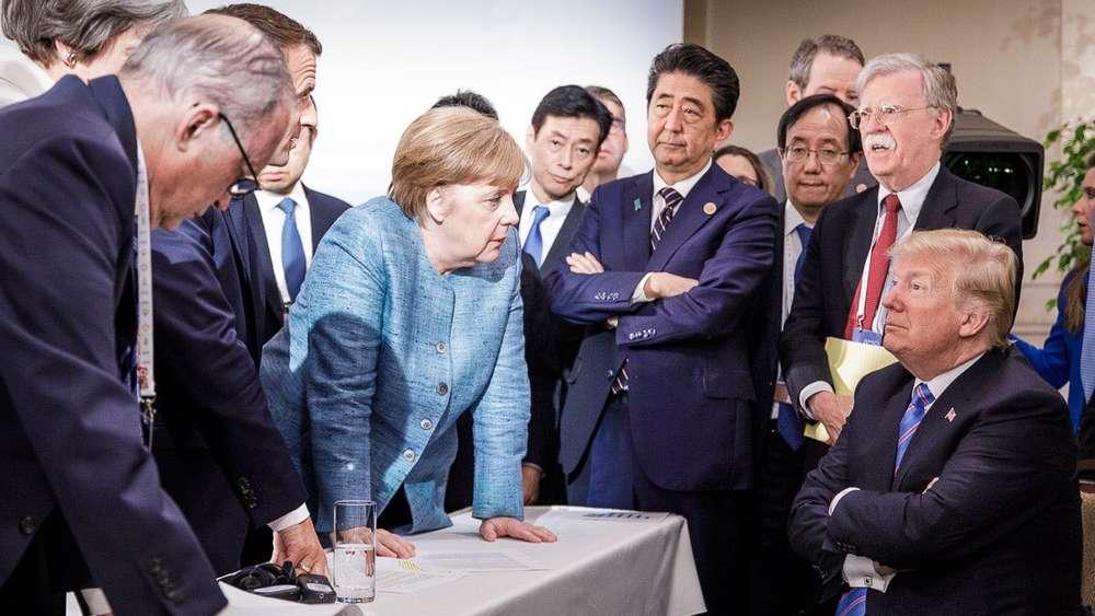 Trump fühlt sich durch Merkel-Foto in schlechtes Licht gerückt
