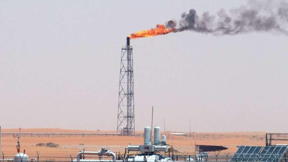 Blick auf das Khurais-Ölfeld rund 160 Kilometer von Riad entfernt