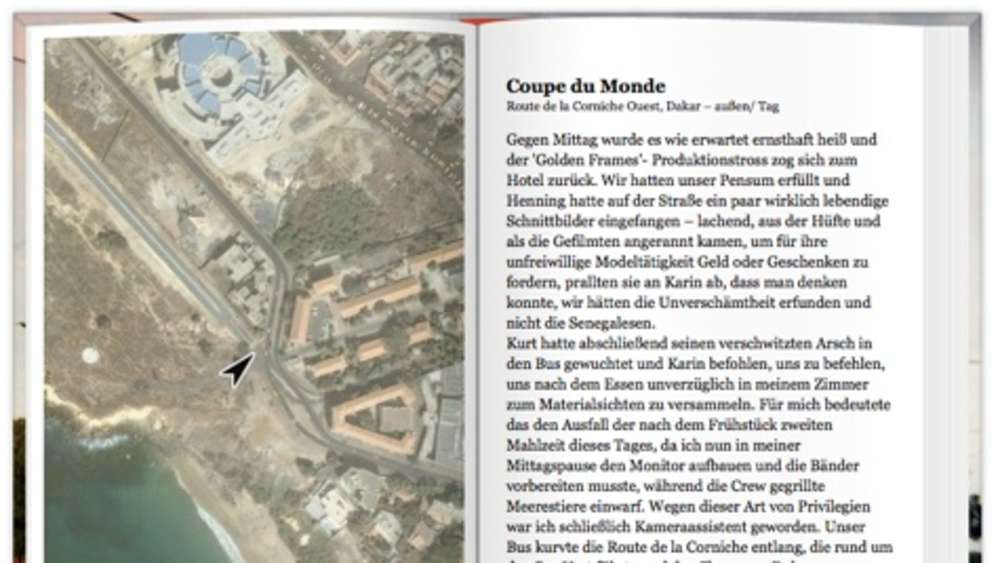 Web-Roman: Senghor on the Rocks mit Google Maps Anbindung
