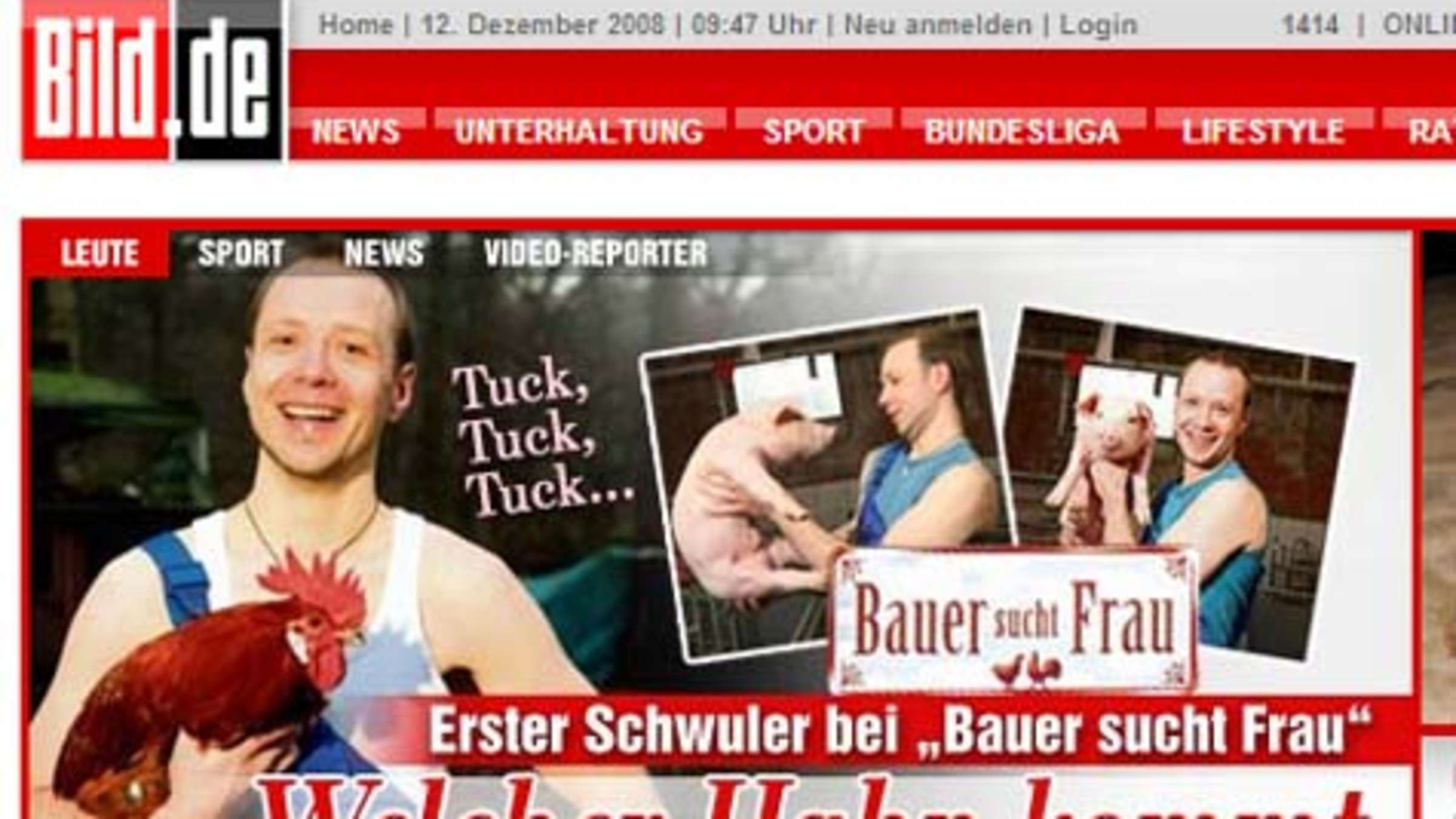 Bauer sucht frau casting