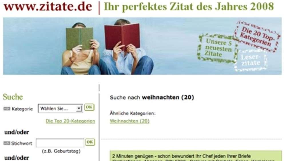 Website Des Tages: Zitate.de