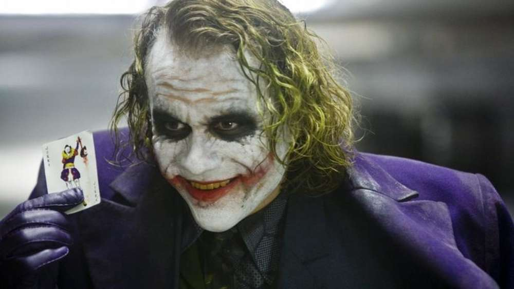 "Heath Ledger als Joker in einer Szene aus ""Batman - The Dark Knight"" ."