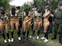 nackte kolumbianische Frauen