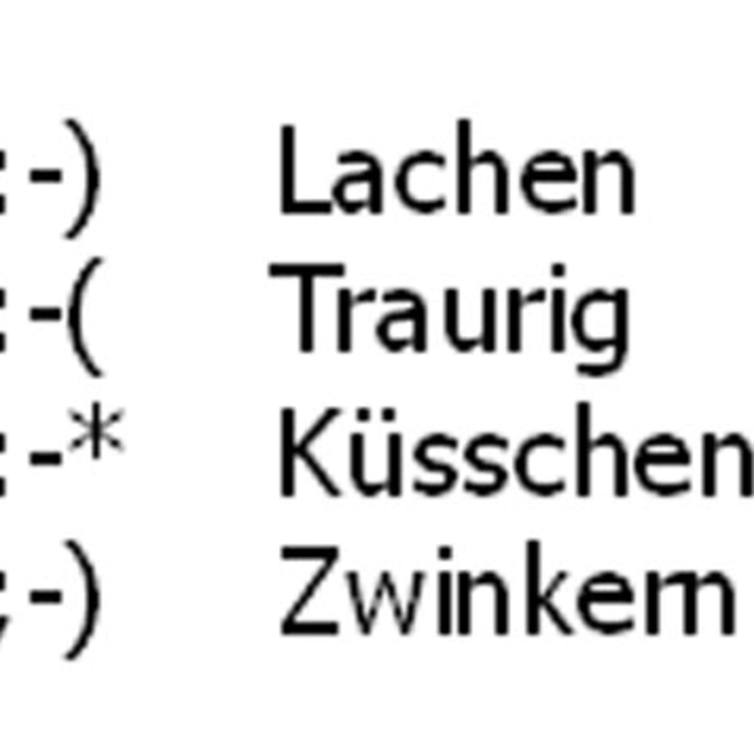 Küsschen emoticon ▷ Schnecken: