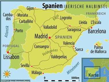 Spanien Karte Küsten.Galicien Andalusien Oder Katalonien Die Küsten Von Spanien