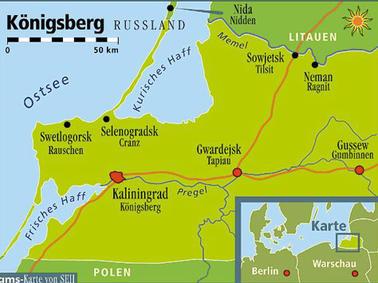 Königsberg Kaliningrad Karte.Auf Deutschen Spuren Durch Kaliningrad Reise