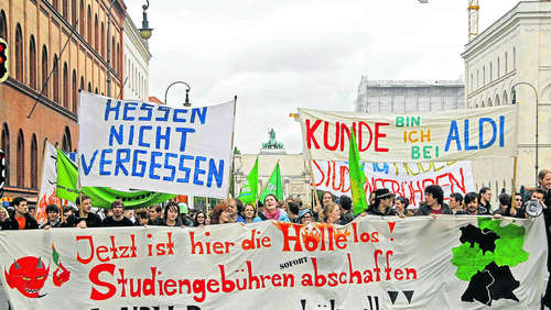 Studenten planen Protest-Camp