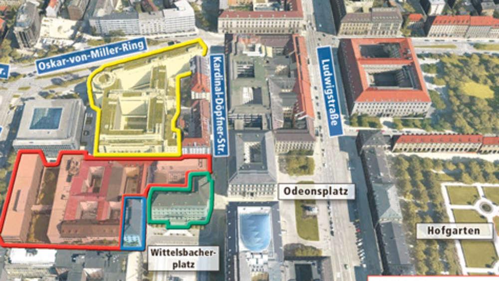 siemens treibt neubau seiner zentrale am wittelsbacherplatz voran m nchen zentrum. Black Bedroom Furniture Sets. Home Design Ideas