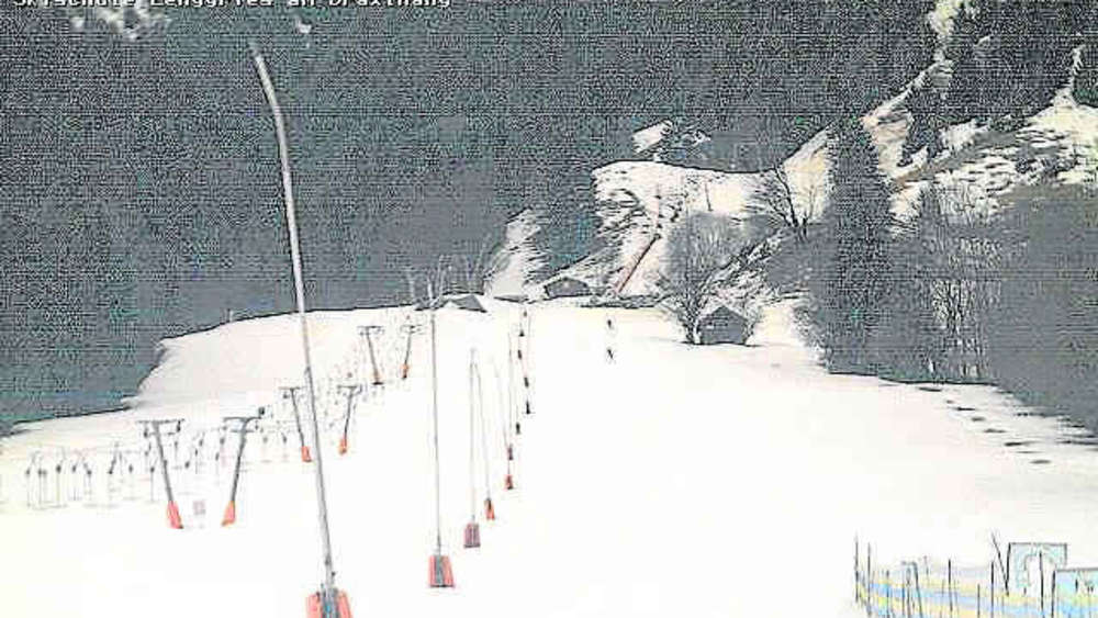 So sah es am Donnerstagnachmittag am Draxlhang in Lenggries aus. foto: webcam