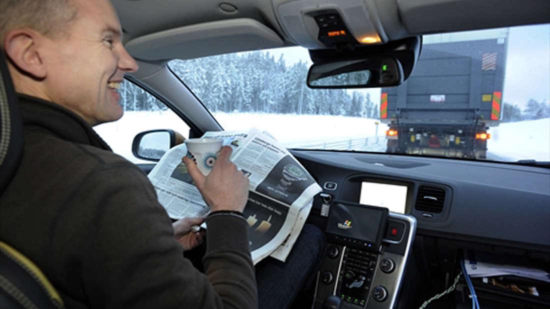 Kolonnenfahren Sicherheit Auto