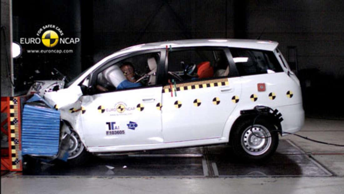 NCAP Crashtest Auto 2010