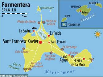 Ibiza Karte Strande.Formentera Die Karibik Europas Die Insel Hat Weisse