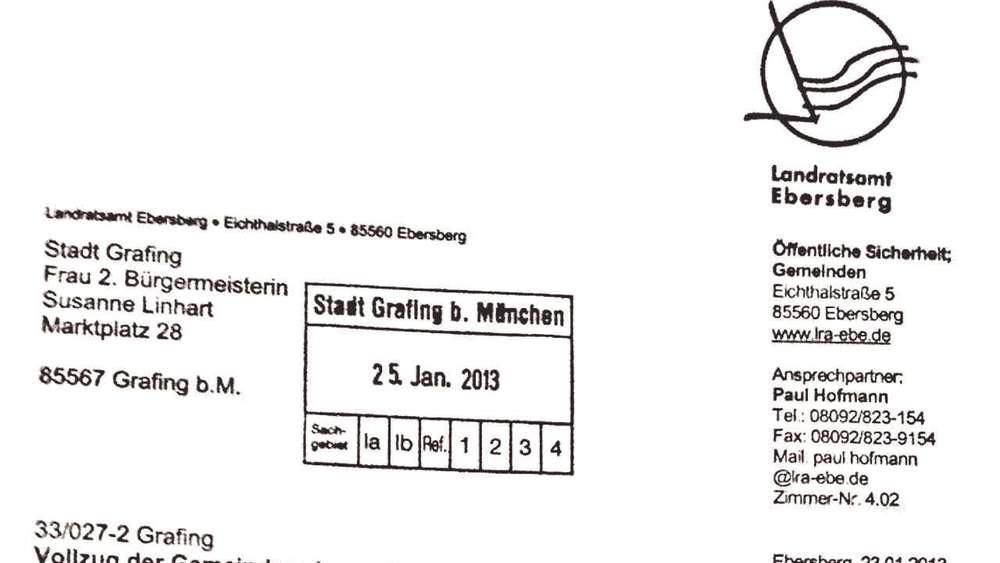 Brisanter Brief Auf Umwegen Ebersberg