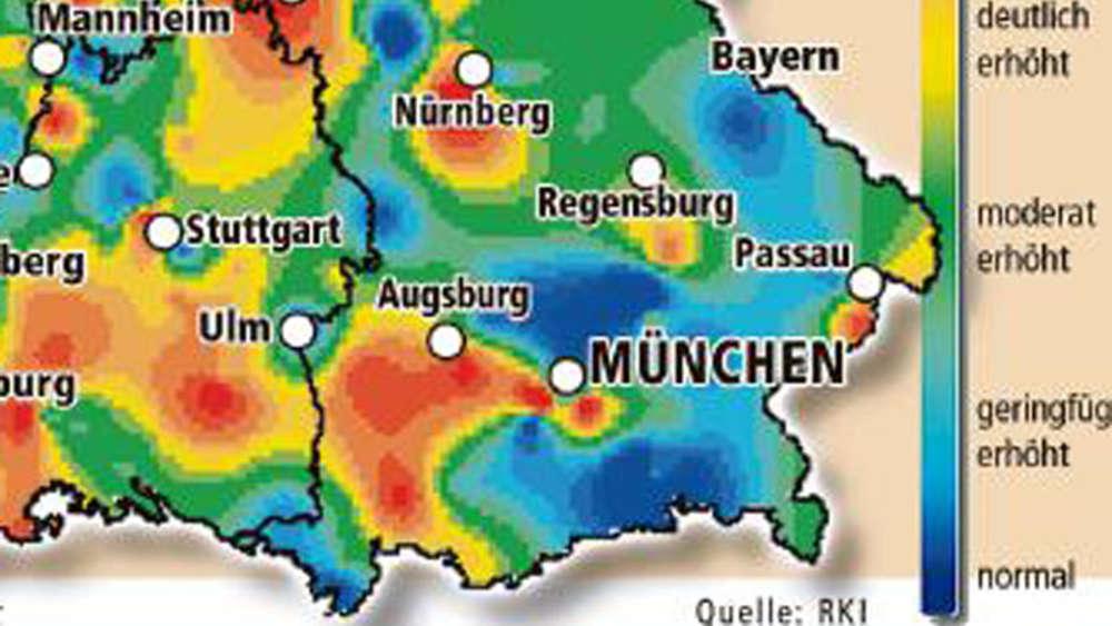 Grippe Karte.Grippe In Bayern Hier Grassiert Das Virus Bayern