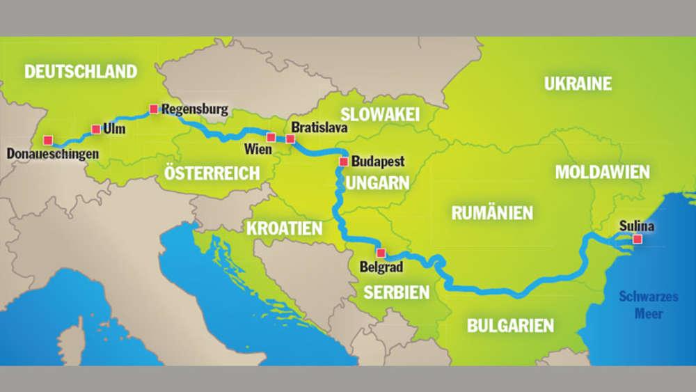 donau karte Donautour: 2700 Kilometer, acht Länder, ein Fluss | Reise