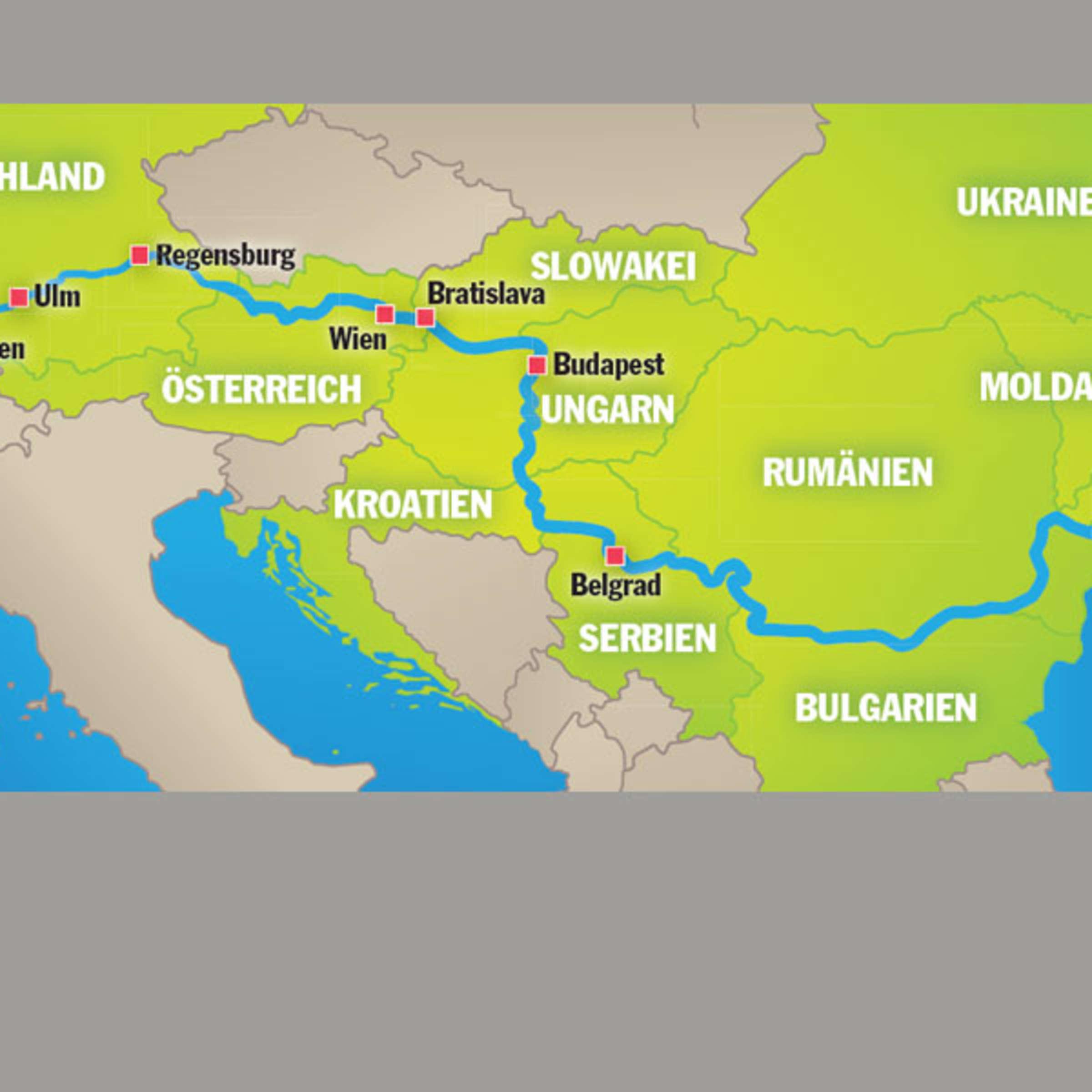 karte donau deutschland Donautour: 2700 Kilometer, acht Länder, ein Fluss | Reise