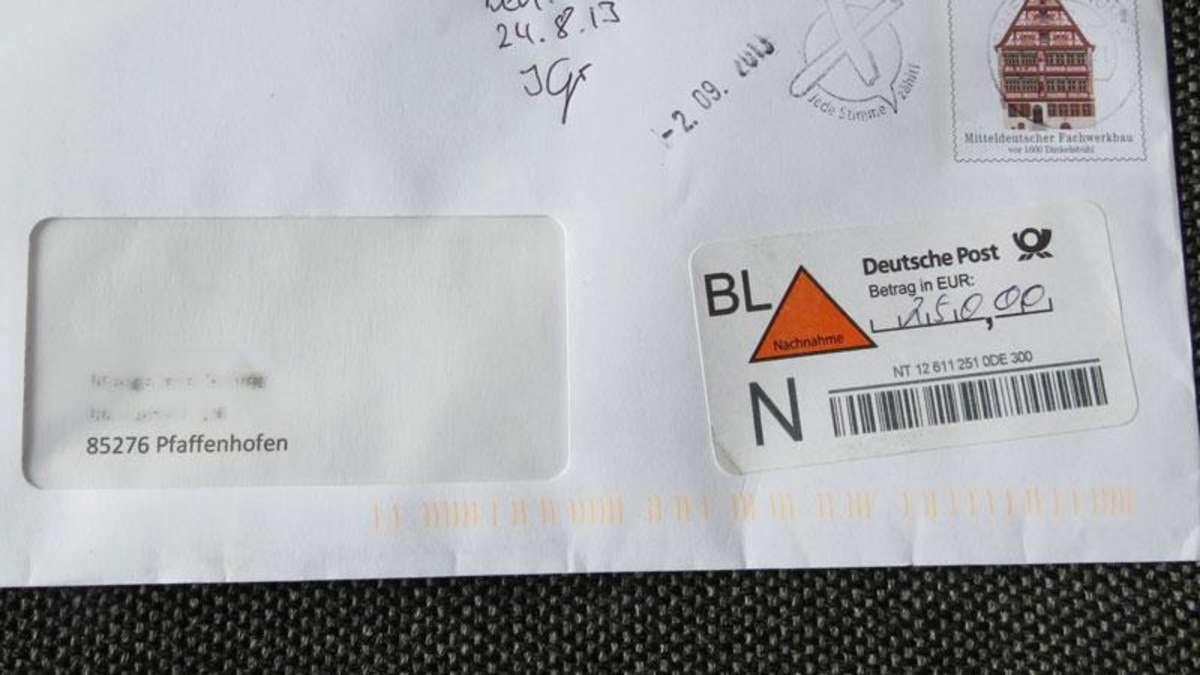 Brief Für Zusammenarbeit : Betrugsmasche mit nachnahme brief von quot verwaltungsstelle