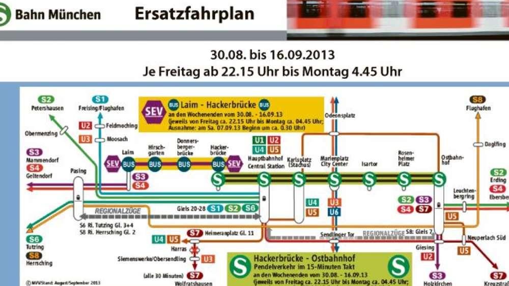 S Bahn Karte München.S Bahn Stammstrecke Schärfste Bauphase Ist Vorbei Stadt München