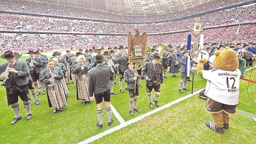 Schongauer Stadtkapelle in der Allianz Arena