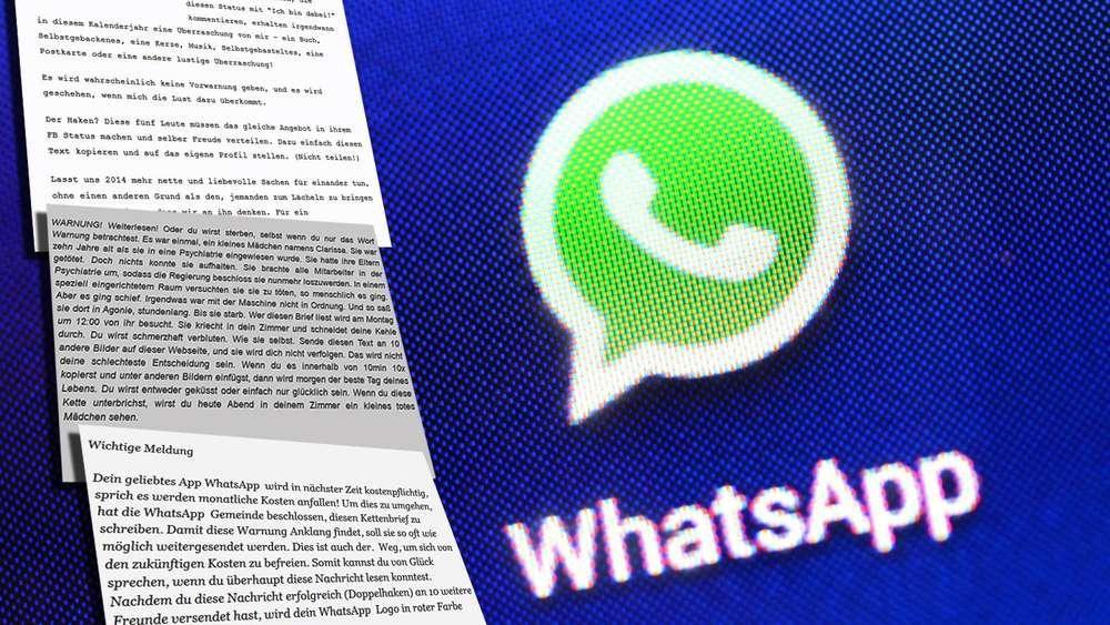 5740dc3e721ee Facebook und WhatsApp  Das sind die fiesesten Kettenbriefe