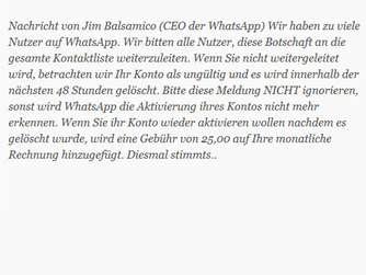 400db0d1c45dd Fake-Versprechen  Mit Kettenbrief kostenlos machen. WhatsApp