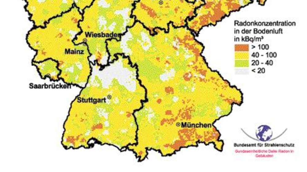radon karte bayern Radon: Krebsgefahr aus dem Boden | Bayern radon karte bayern
