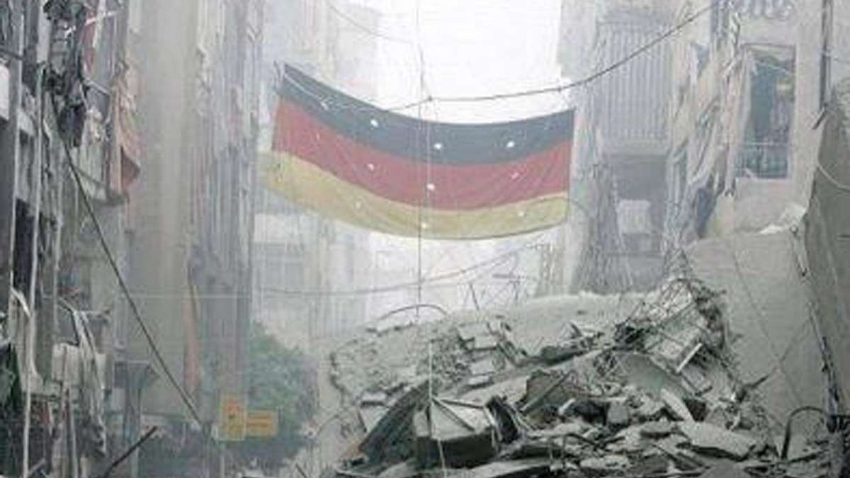 deutschland flagge im syrien krieg an der front in aleppo politik. Black Bedroom Furniture Sets. Home Design Ideas