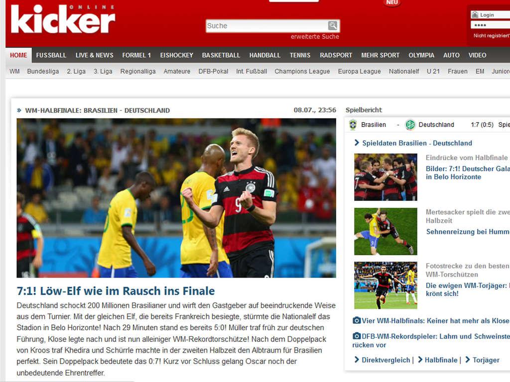 Wm 2014 Deutschland Gegen Brasilien Halbfinale
