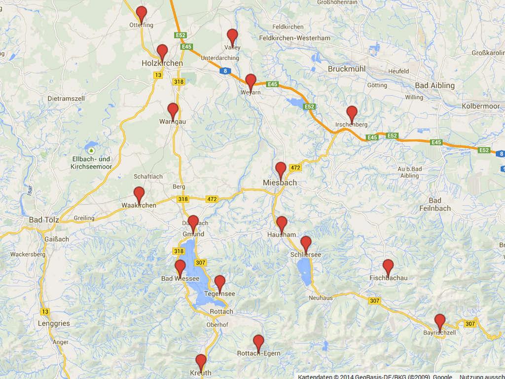 Breitbandausbau Im Landkreis Miesbach Karte Zur Situation In Den