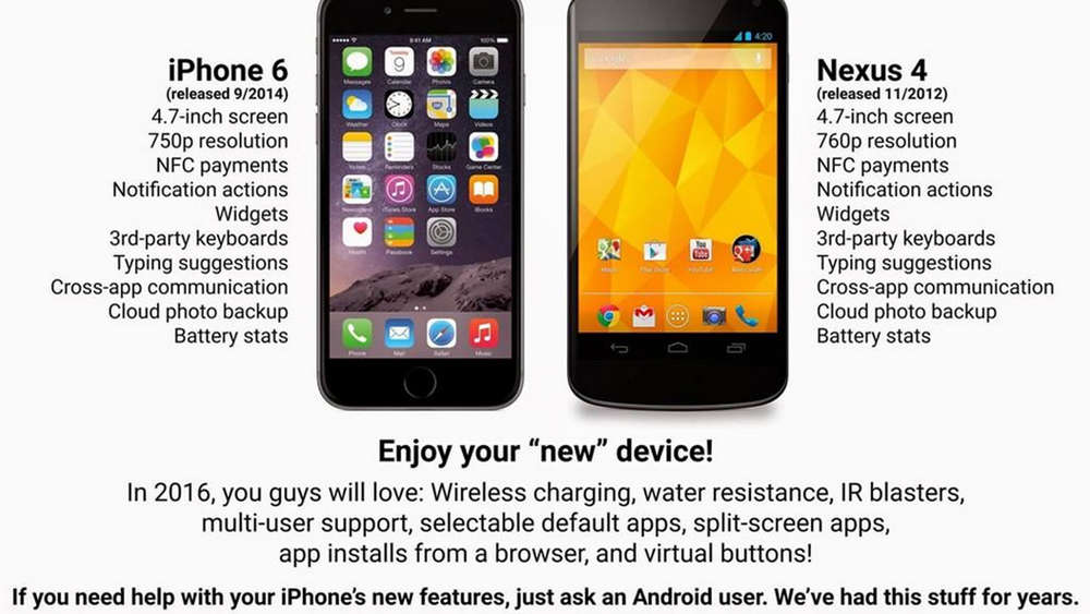 iPhone 6 Nexus 4