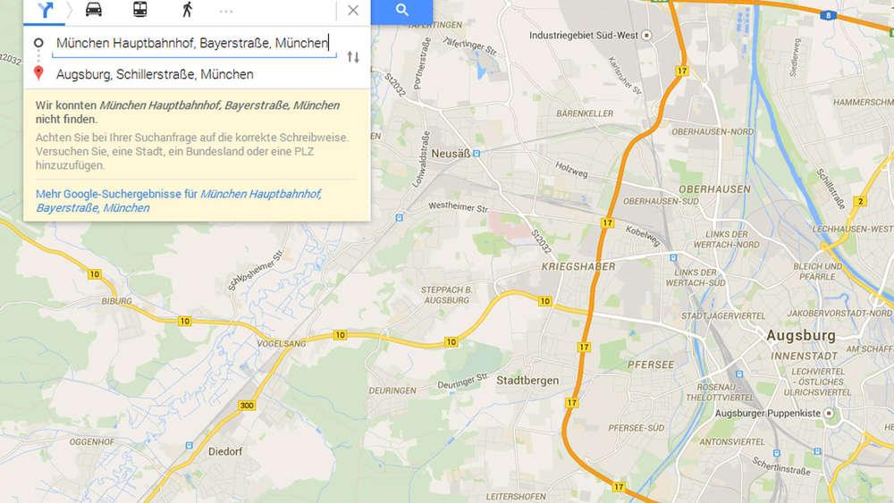 Google Maps kann plötzlich \