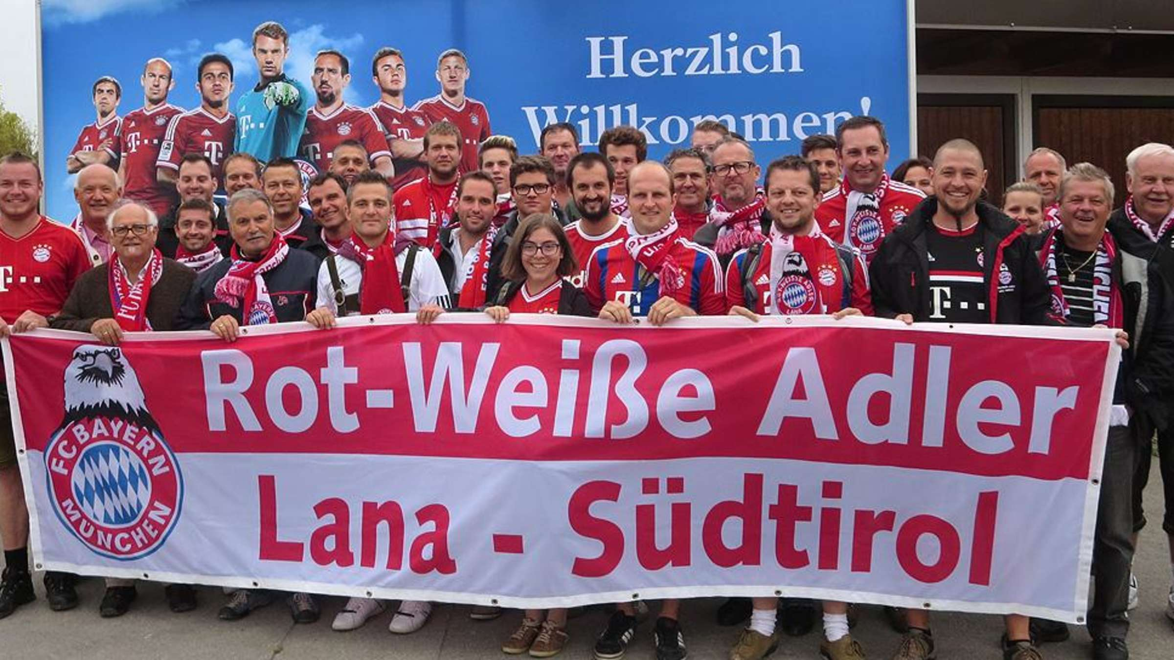 FC Bayern Fanclub: Rot Weiße Adler Lana aus Lana Südtirol