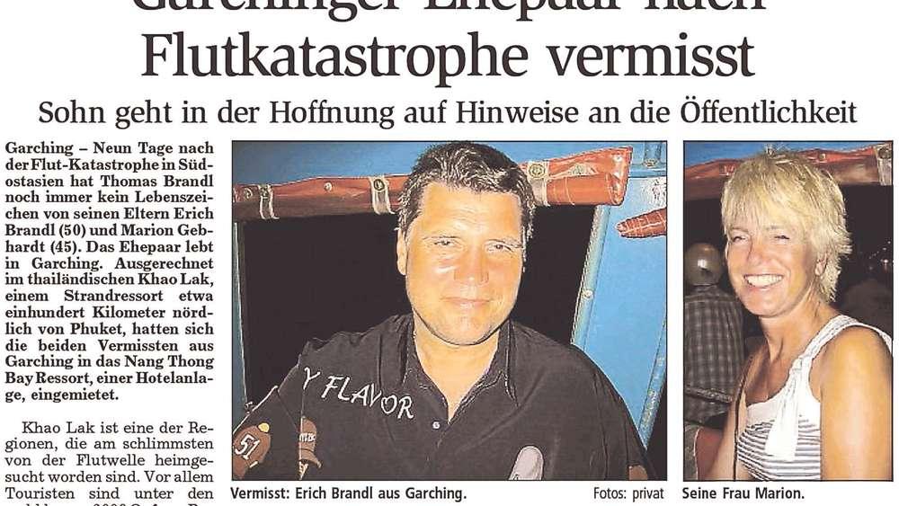 Garchinger verliert Eltern bei Tsunami   München Landkreis