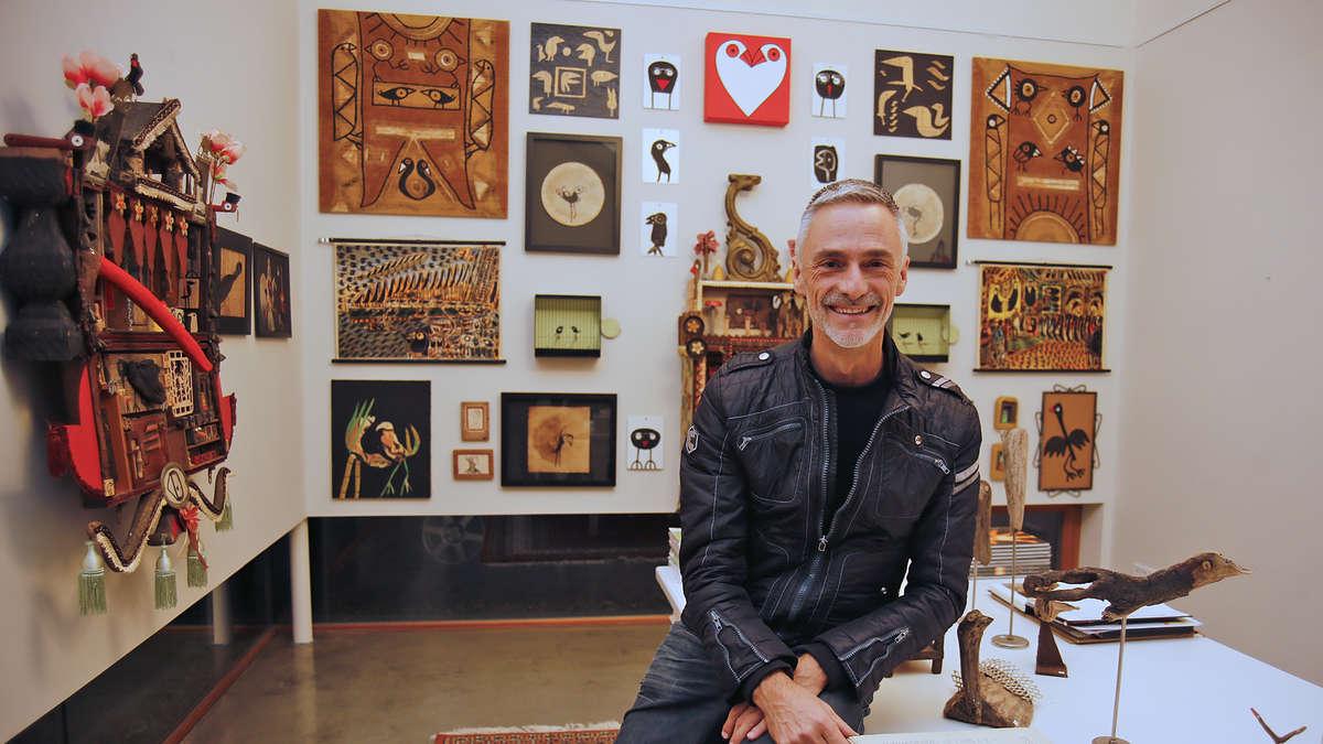 "Im Februar: Birdman Hans Langner stellt im ""Kunstsalon ...  Im Februar: Bir..."