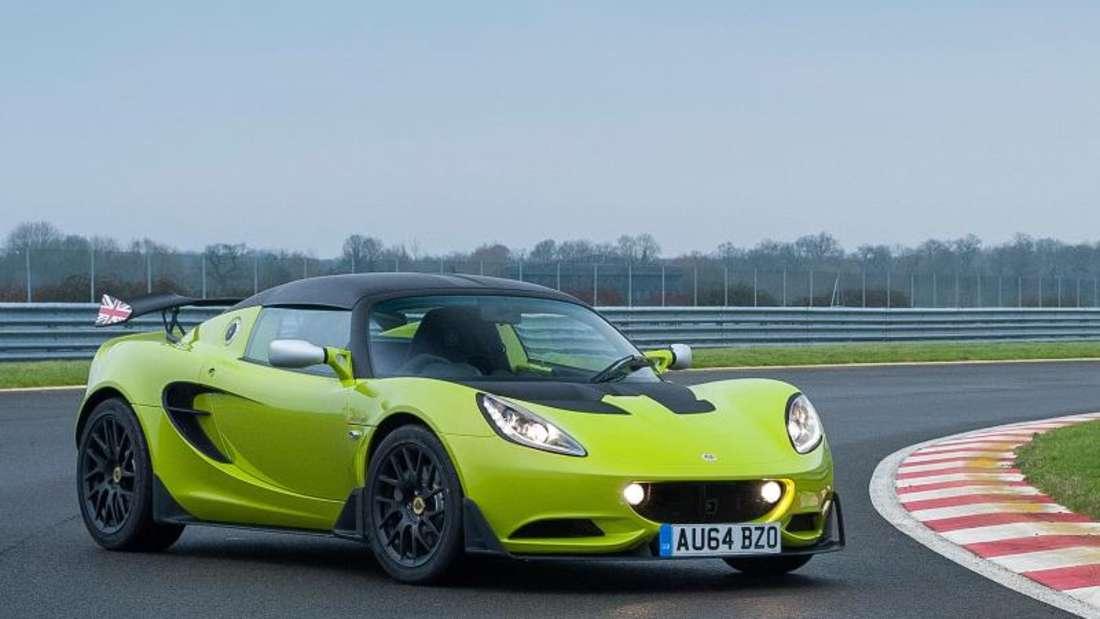 Querschläger: Die Elise S Cup von Lotus basiert auf der Cup-R-Version, darf aber auch auf der Straße bewegt werden. Foto: Lotus